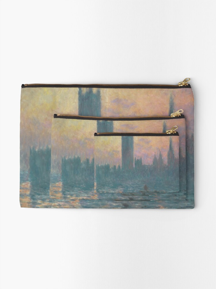 Alternate view of The Houses of Parliament Sunset by Claude Monet Zipper Pouch