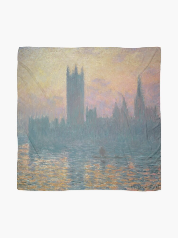 Alternate view of The Houses of Parliament Sunset by Claude Monet Scarf