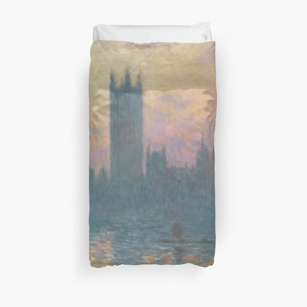puesta de sol : Claude Monet-tarjeta de Felicitación en Blanco 1903 Las casas del Parlamento