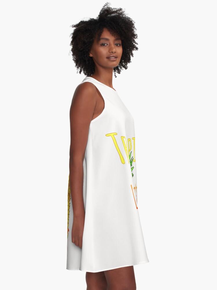 Alternative Ansicht von Tropic Like Its Hot Pineapple A-Linien Kleid