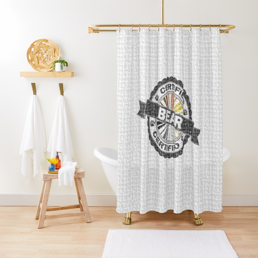 Certified Bear Stamp Shower Curtain
