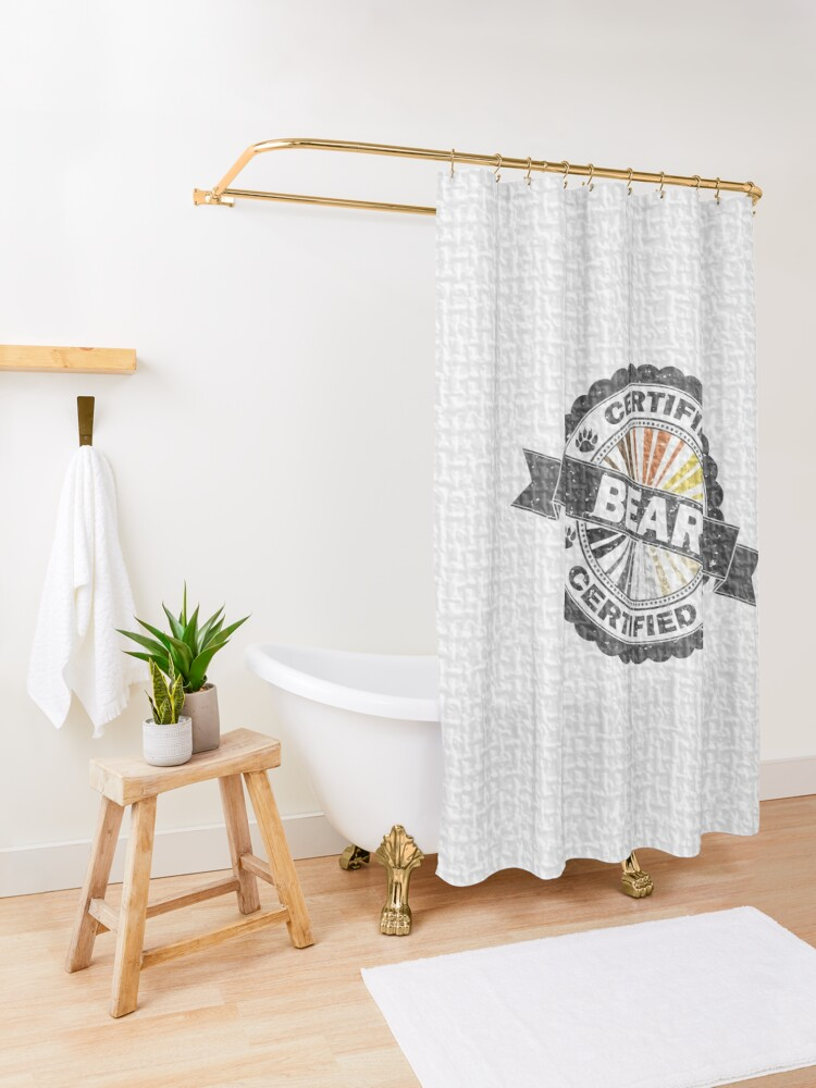 Alternate view of Certified Bear Stamp Shower Curtain