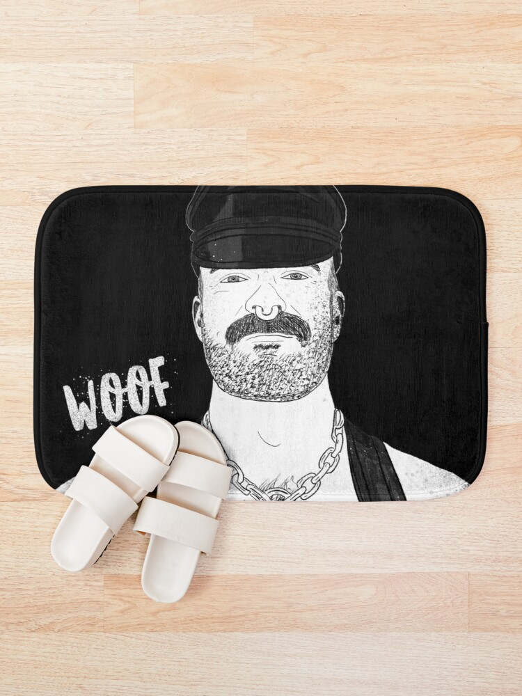 Alternate view of Woof (Ink) Bath Mat