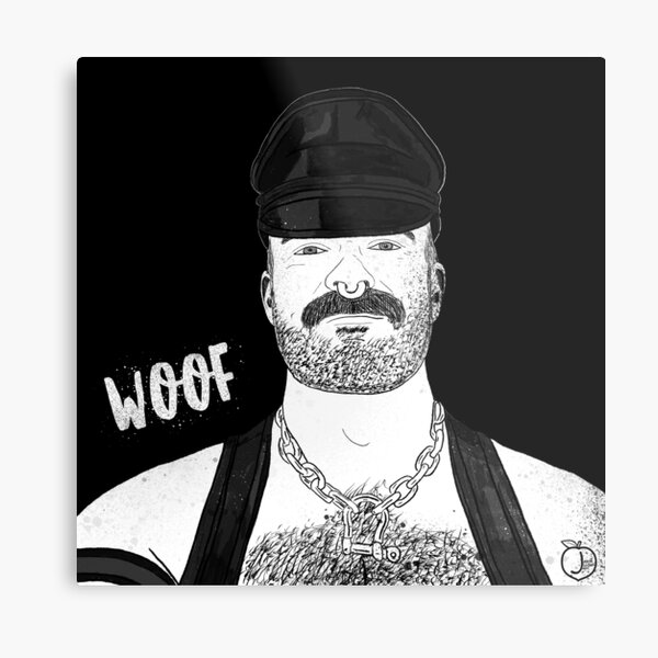 Woof (Ink) Metal Print