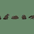 Rocky Raccoons by KaijuCutie