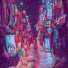 Tokyo Glitch Vaporwave Street by Glyphz