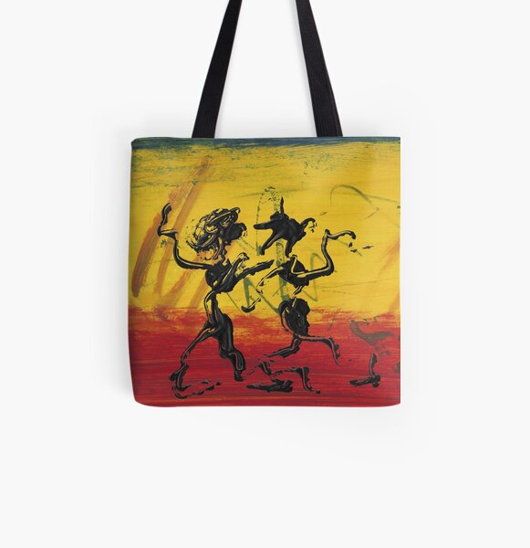 Dance Art Dancing Couple XII Allover-Print Tote Bag