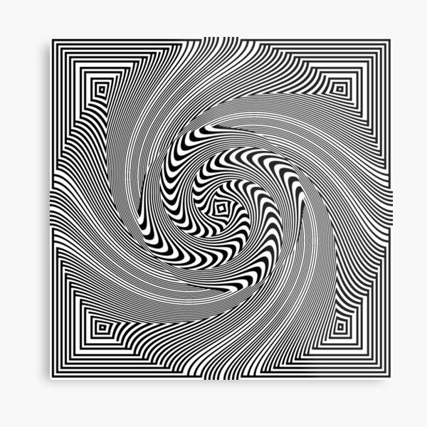 #Pattern, #vortex, #design, #abstract, geometry, creativity, illustration, hypnosis, spiral, intricacy, illusion Metal Print