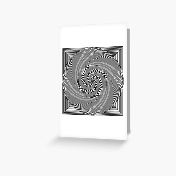 #Pattern, #vortex, #design, #abstract, geometry, creativity, illustration, hypnosis, spiral, intricacy, illusion Greeting Card