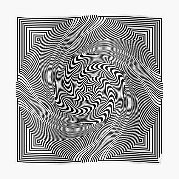 #Pattern, #vortex, #design, #abstract, geometry, creativity, illustration, hypnosis, spiral, intricacy, illusion Poster