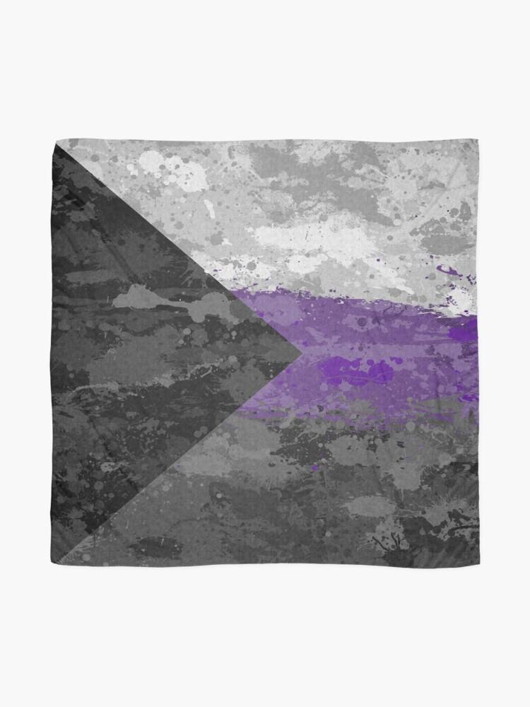 Alternate view of Demisexual Paint Splatter Flag Scarf