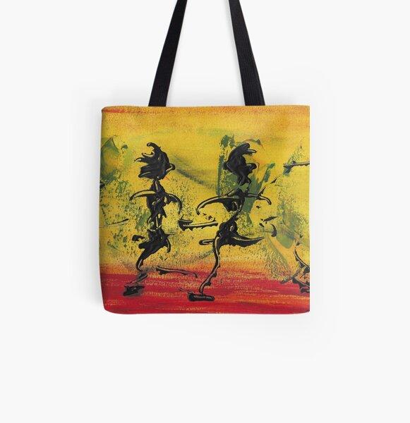 Dance Art Dancing Couple VIII   Allover-Print Tote Bag