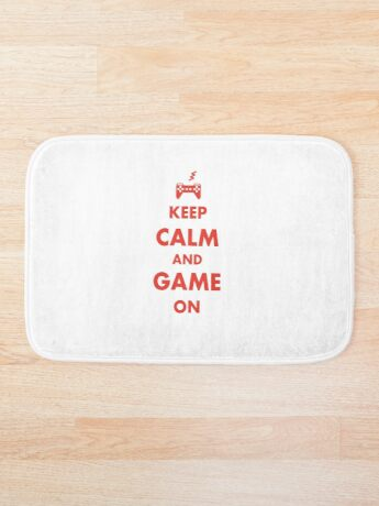 Keep Calm and Game On Bath Mat