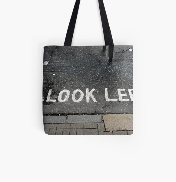Look left All Over Print Tote Bag