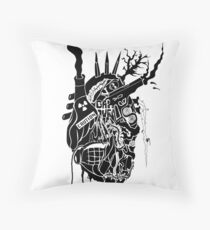 Corroded Heart Throw Pillow