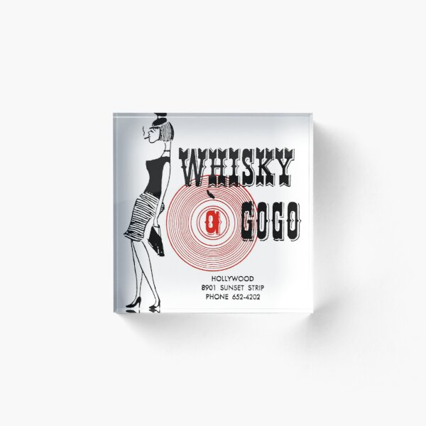 Whisky A Go-Go Vintage Poster Restoration | Digital Painting | Retro Band | Gig Poster Acrylic Block