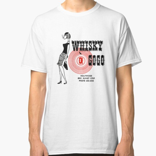 Whisky A Go-Go Vintage Poster Restoration / Digital Painting Classic T-Shirt