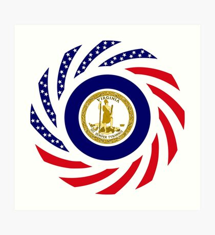 Virginian Murican Patriot Flag Series Art Print