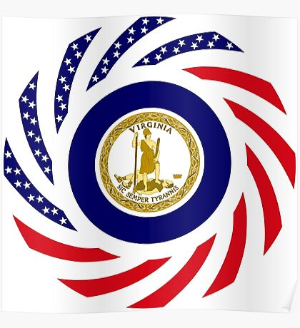 Virginian Murican Patriot Flag Series Poster