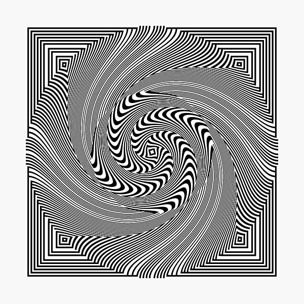 #Pattern, #vortex, #design, #abstract, geometry, creativity, illustration, hypnosis, spiral, intricacy, illusion Photographic Print