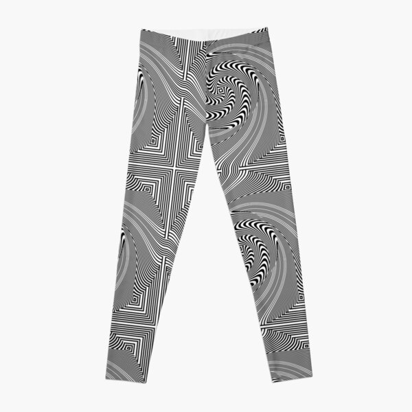 #Pattern, #vortex, #design, #abstract, geometry, creativity, illustration, hypnosis, spiral, intricacy, illusion Leggings