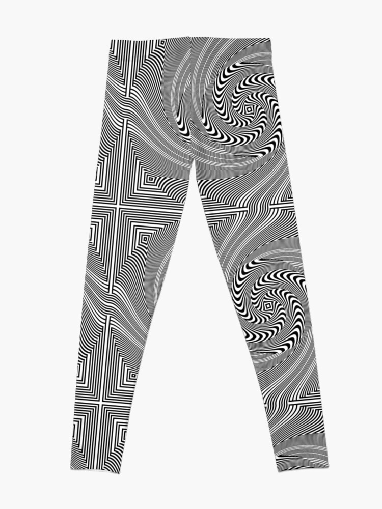 Alternate view of #Pattern, #vortex, #design, #abstract, geometry, creativity, illustration, hypnosis, spiral, intricacy, illusion Leggings