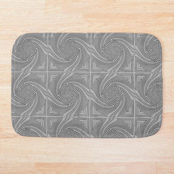 #Pattern, #vortex, #design, #abstract, geometry, creativity, illustration, hypnosis, spiral, intricacy, illusion Bath Mat