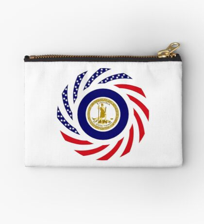 Virginian Murican Patriot Flag Series Zipper Pouch
