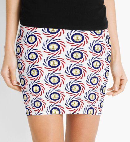 Virginian Murican Patriot Flag Series Mini Skirt