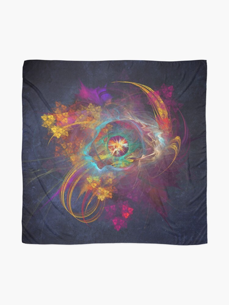 Alternate view of Other Side Fractal Art Scarf