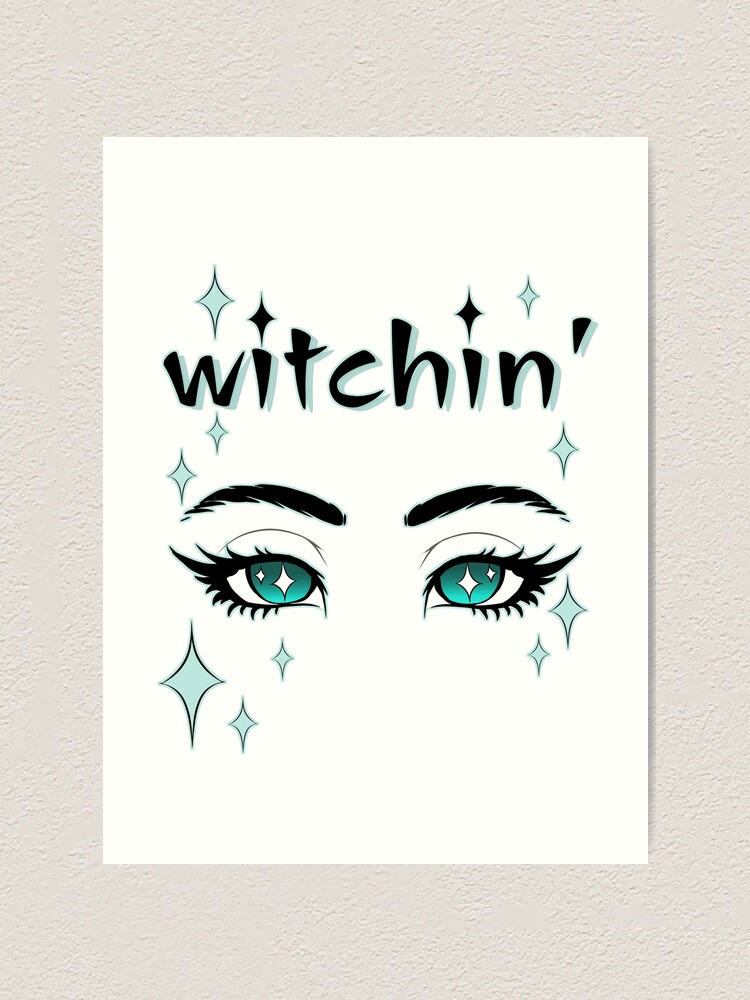 Witchin Beautiful Witching Blue Eyes With Long Eyelashes And Magical Sparkles A Simple Feminine Magical Design Art Print By Vpinto Redbubble