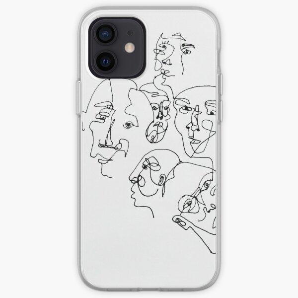 Faces artwork iPhone Soft Case