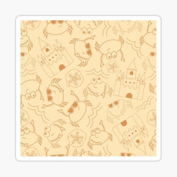 Sand Crab Beach Sticker