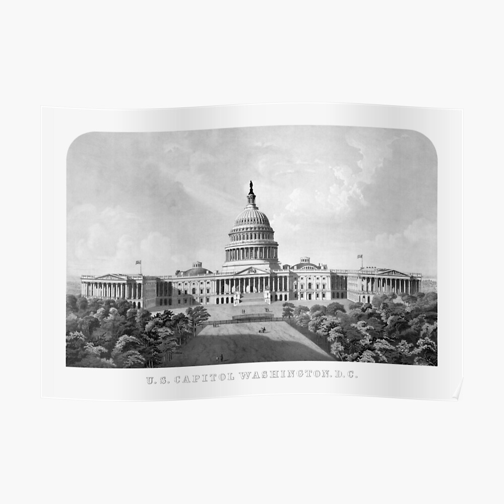 US-Kapitol, das Washington DC errichtet Poster