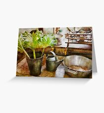 Kitchen - Eat your greens Greeting Card