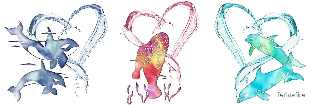 Trio D'Amour de Mer by ferinefire