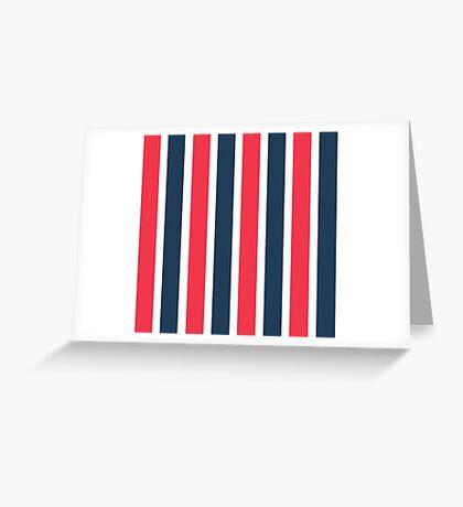 Bowie Stripe pants Greeting Card