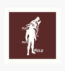 Witcher - Fear The White Wolf Art Print
