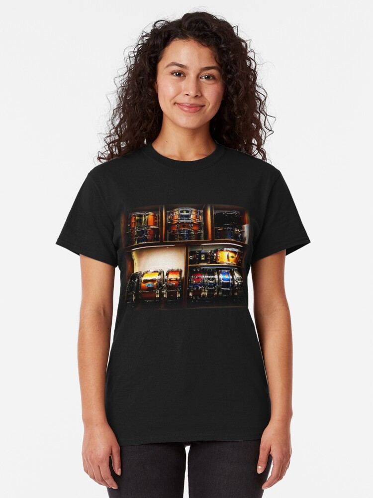 Alternate view of Pretty Snare Drums All In A Row Classic T-Shirt
