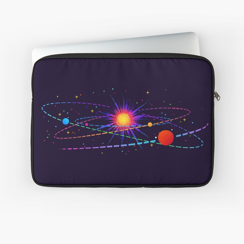 """You're Already Part of Something Ridiculous and Wonderful"" Solar System Laptop Sleeve"