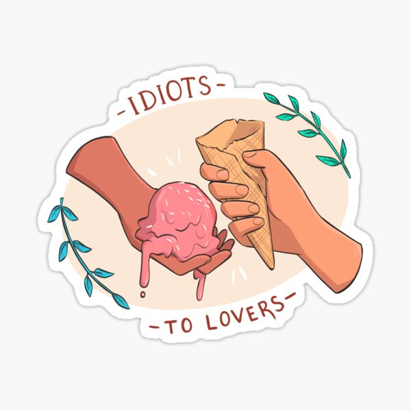 idiots to lovers - tropes series Sticker
