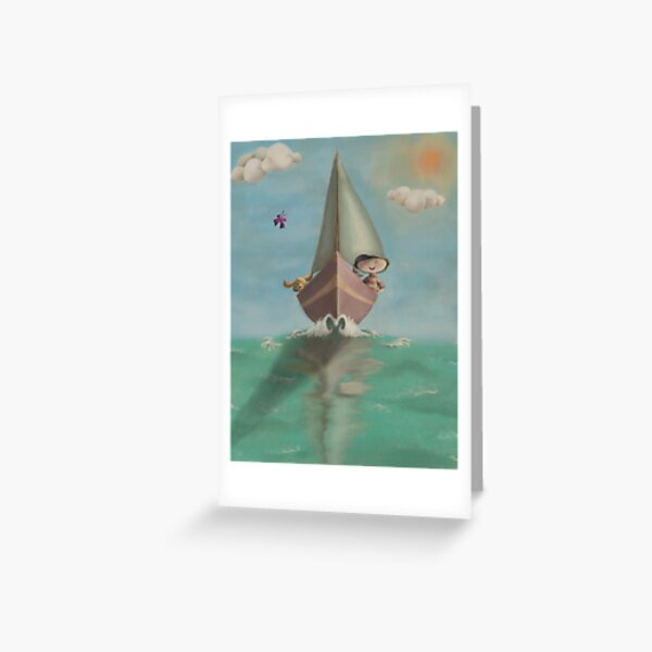 The Boy on his Boat Greeting Card
