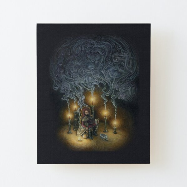 The Ones I Could Not Save Wood Mounted Print