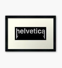 Vintage Heavy Metal Helvetica Framed Print