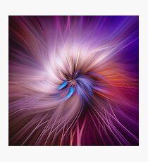 Purple Twist Photographic Print