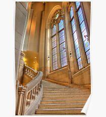 Stairs to Suzzallo Library, University of Washington Poster