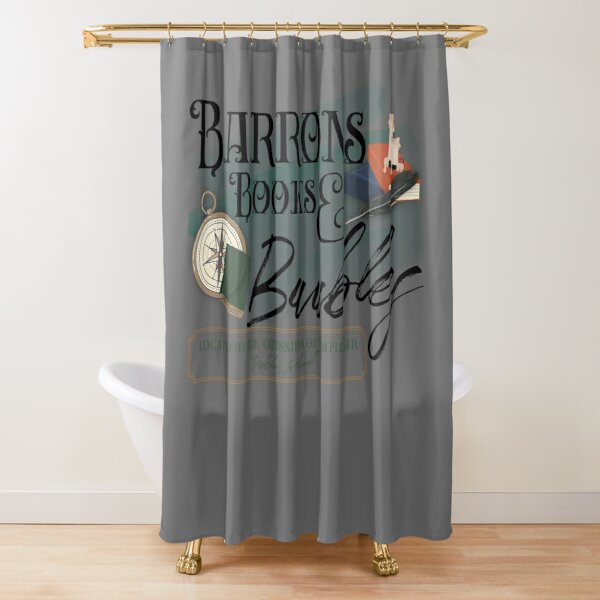 Barrons Books & Baubles Shower Curtain