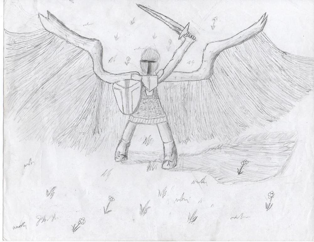 angel warrior  by justin herman
