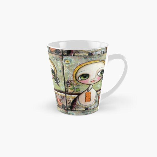 Blonde Doll with big eyes, art by Margherita Arrighi Tall Mug
