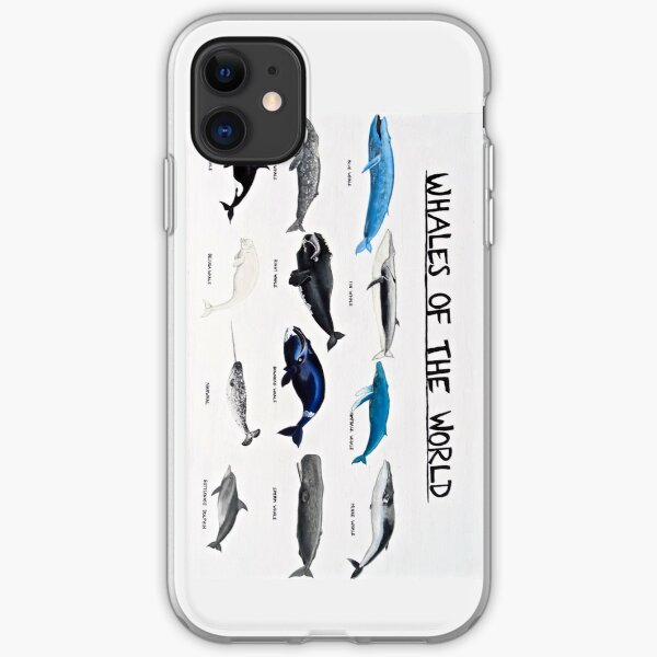 Whales Of The World Chart iPhone Soft Case